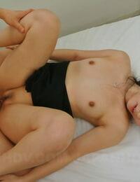 Good Asian chick Tomomi Motozawa eliminates her subjugation & rails a dick after a DT