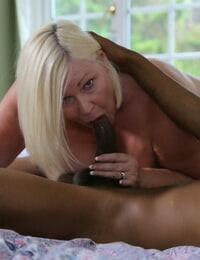 Huge granny in blossom Lacey Starr sucks a BBC before getting bitchy