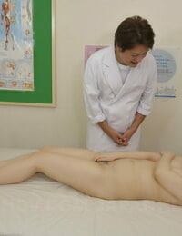 Sweet Asian babe Hanaho gets unclothed and screwed before a creampie