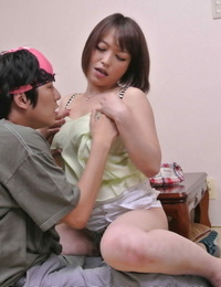 Delicious Asian lady Yui Ayana tastes a shaft and gets stuffed on a sofa