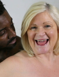 Big-breasted granny Lacey Starr ends nasty broads action with a facial cumshot