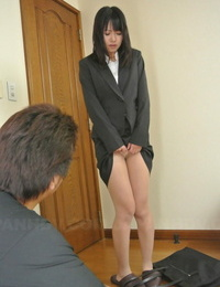 Nasty Asian office woman Kotomi Asakura lets her boss finger her sadism pussy