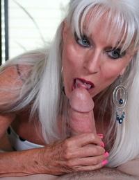 Big-titted older mummy slut sally dangleo sucking real stiff shaft - part 188