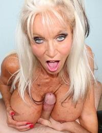 Abnormal blond mummy sally sucking dick of her stepson - part 169