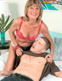 Mature daisy lou playing with a young man - part 834