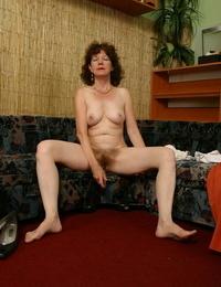 Redhead granny stroking - part 1991