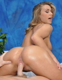 Legal yr old massagist peels off and rides her clients hard hard-on