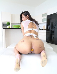 Thai with inborn knockers Jureka Del Mar gushes bod & rides shaft with her booty