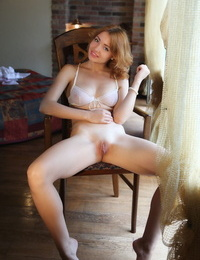 Scorching ginger sweetie Kika uncovers her big knockers and her juicy muff