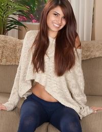 Barely 18 teen Gisele Mona makes her nude modelling debut