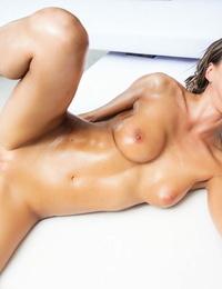 Beautiful chick Tina Kay takes a cum shot on her face after assfuck fucking