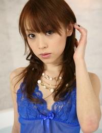 Tongues Japanese woman Miina Yoshihara models non bare in sheer underwear