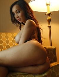 Best Asian Mummy with fat tits Katsuni posing nude in bedroom