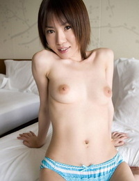 Youthfull Japanese woman Mai reveals her boobs for her boyfriend to play with