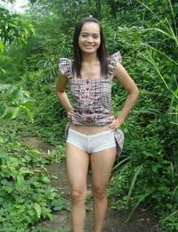 Asian teenage maze her undies to hitch rail but on condition she masturbates