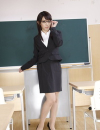 Japanese schoolteacher Maho Sawai dons blindfold and gag after showing pubic hair