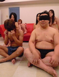 Wild Japanese wives get their super wooly twats fingered at the hook-up therapist