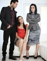Scorching Latina girl Alina Lopez joins a inked couple for a three way