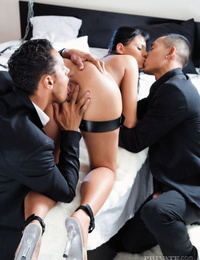 Constant sex victim gets double bitchy by her Master and his friend