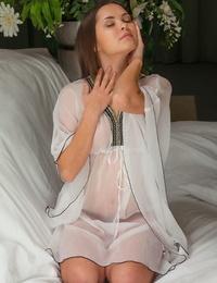 Warm brunette hottie Nastya likes showcasing off her orgasmic beaver
