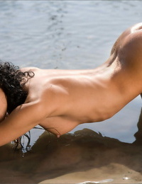 Moist dickblowers with an pouch to die for beats ultra-kinky nude poses at a river