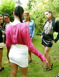 Great european girls have some entirely dressed peeing joy outdoor
