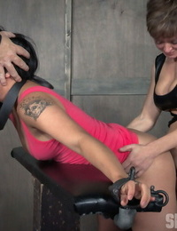Asian female Milcah Halili is confined before being porked by a nasty couple