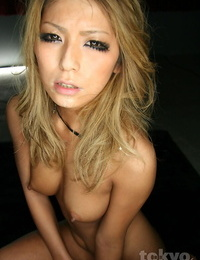 Japanese hook-up gimp with pointy knockers and a taut booty is compelled to suck dick