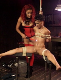 Black females Daisy Ducati & Nikki Darling engage in hard-core electrical games
