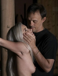 Youthful beauty is restrained and used for as her Sir wishes during BDSM games