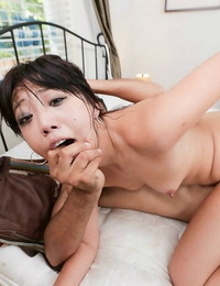Teen Miko Dai gets cunt-munching nailing and money-shot by her angry landlord