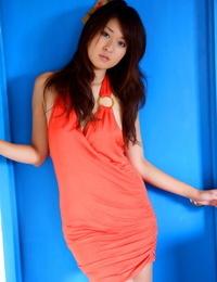 Japanese babe Risa Misaki strikes kinky naked and non naked solo poses