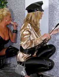 Fetish Mummy Sharon Pinkish sucks a fake cock and gets bukkaked with fake jizz