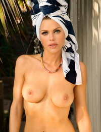 British model Sophie Monk exposes her perfect tits in several scenarios