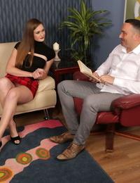 Talkative Honour May & Jasmine Lau fondle & deepthroat a studs puny cock in CFNM Polish