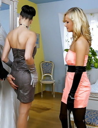 Hot stunners Mea Melone & Bella Baby are into groupsex with a lucky guy