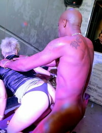 Clubbing chicks get jizz on faces during wild hookup with dudes and women