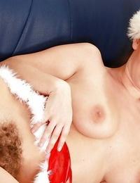 Christmas babe Luscious Eden waits for Santa to pound her fur covered beaver