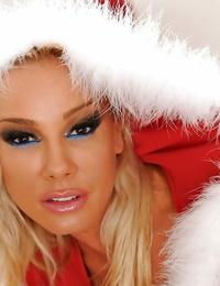 Torrid hot pornstars have joy at the christmas lesbo soiree
