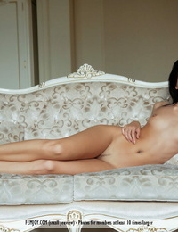 Constant ultra-cutie Sveta L uncovers the rosy of her shaved vagina