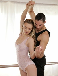 Sexy ballerina Molly Mae has her hot ass uncovered before screwing her instructor