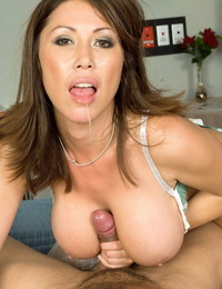 Thick boobed Asian nurse Kianna Dior ravages her patients fat dong