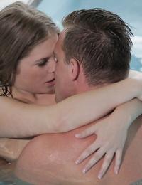 Humid gf with tiny tits Alessandra Jane gets nailed on the pools edge