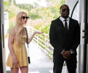 Fair skinned blond teenage Emma Starletto gets banged and creampied by a Big black cock