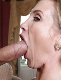 Absorbs milf Loulou has 3 way with Rebecca Moore and portion suck off