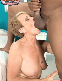 Older first timer Misty Luv lives out her wish of having lovemaking with a Big black cock