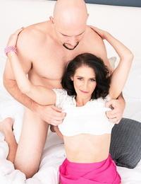 50 plus chick Keli Richards sucks off her sleeping son-in-law