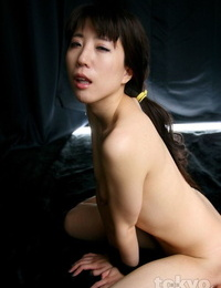Naked Japanese female is face pounded while her wrists are bound together