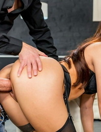 Hot Italian stunner Martina Smeraldi getting her sexy mouth and pussy boned hard
