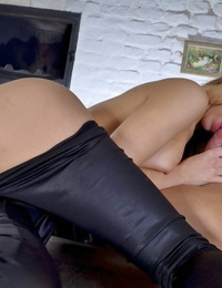 Seems like Abby is undoubtedly like the feel of cock in her mouth